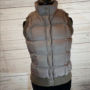 J Crew Light Brown Down Puffer Vest Size Small